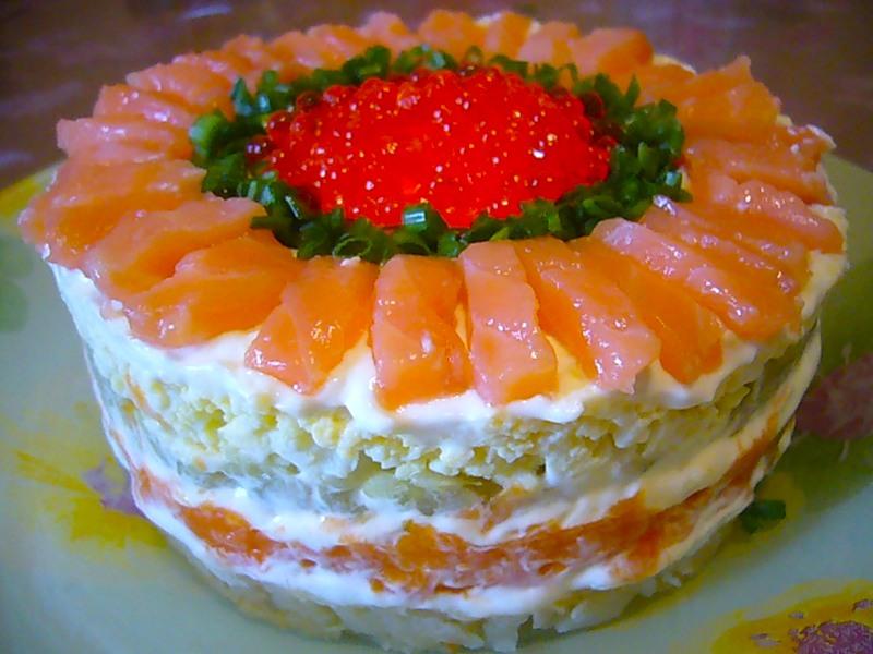 салат царский рецепт из морепродуктов