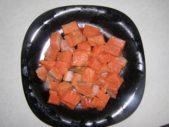 филе горбуши кубиками
