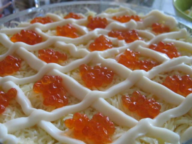 Салат королевский рецепт с фото с морепродуктами