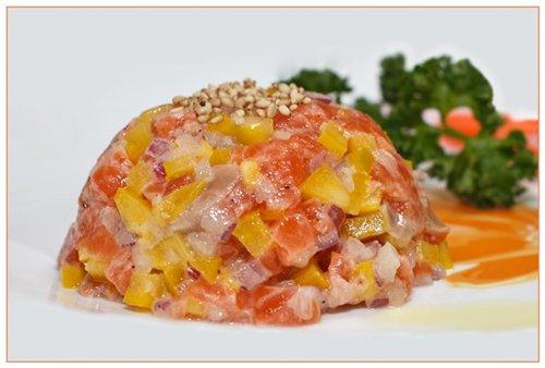 тартар с имбирем и апельсином